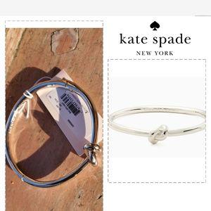 Kate Spade silver knot bracelet NWT